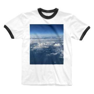 上の空 Ringer T-shirts