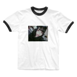 上のの狂行 Ringer T-shirts