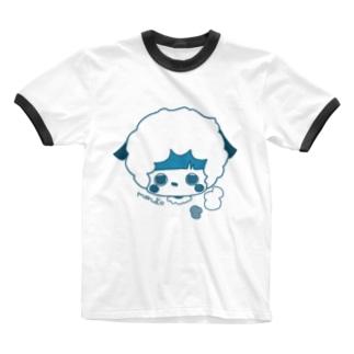 ひつじくン Ringer T-shirts