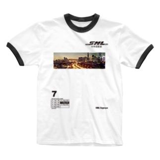 SML Express中侍道敦豪 Ringer T-shirts
