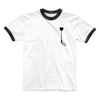 ハートの鞭 Ringer T-shirts