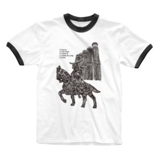 仙台に住んでたり出身だったり働いてたり旅したことあったり大好きだったりする人用(文字黒) Ringer T-shirts