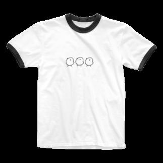 ひよこのお店のひよこの行進 Ringer T-shirts
