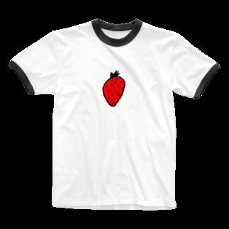 mappoのいちごちゃん Ringer T-shirts