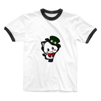 ポジティブ猫ヤミー はじめの一歩 Ringer T-shirts