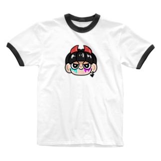 っくっくくくく。悪魔くん。 Ringer T-shirts