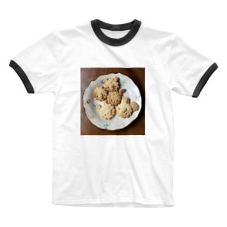 シェイモオリジナル顔クッキー4 Ringer T-shirts