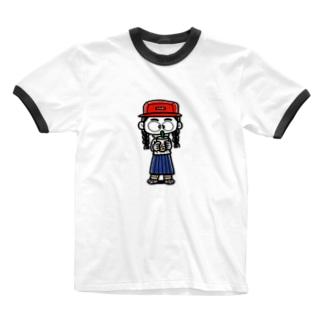 タピオカガール Ringer T-shirts