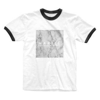 マーブル Ringer T-shirts
