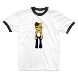 HumanCat<タトゥー>(透過ver.) Ringer T-shirts