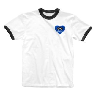 デージーちゃん Ringer T-shirts
