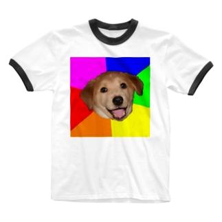 イヌイヌのイーヌくん Ringer T-shirts