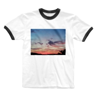夕焼け雲 Ringer T-shirts