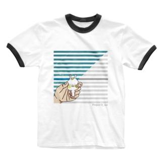 てごろなウサギがいたので掴んでみた Ringer T-shirts