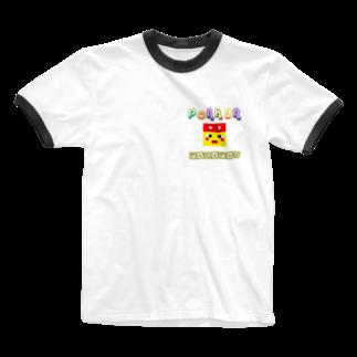 POKOPONのぽこぽんりんがーてぃーしゃつ Ringer T-shirts