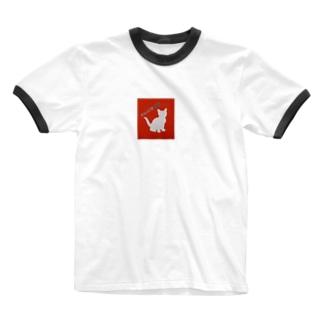 I♡CAT 保護猫グッズ Ringer T-shirts