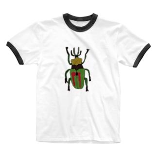 ニジイロクワガタ Ringer T-shirts
