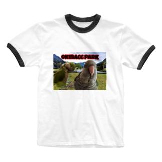 オキナザウルスの公園 Ringer T-shirts