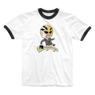 AHD公式キャラクター[ポニー] Ringer T-shirts