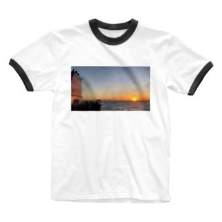 船旅の朝 Ringer T-shirts