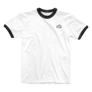 ショートヘアパーマガール Ringer T-shirts