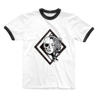 GiMME / Half Skull T-shirts Ringer T-shirts