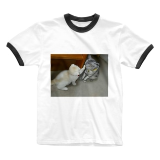 子猫のじゃれ愛 Ringer T-shirts