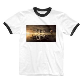 反転した街 Ringer T-shirts