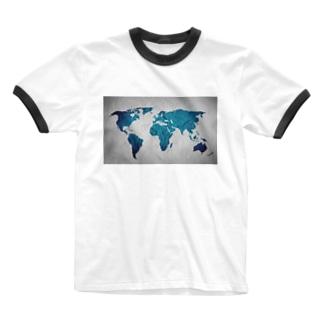 氷と水の世界地図 Ringer T-shirts