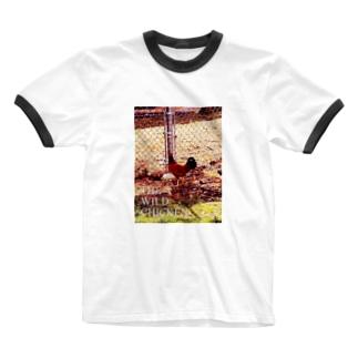 ワイルド チキン 2 Ringer T-shirts