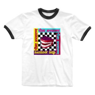 黄色聖域のスマイリー Ringer T-shirts