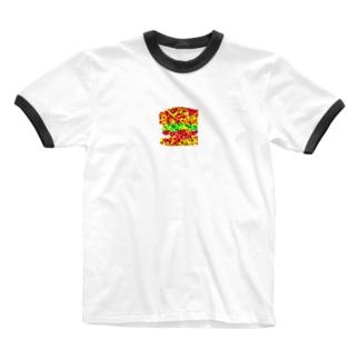 みんな大好き❤ハンバーガー Ringer T-shirts