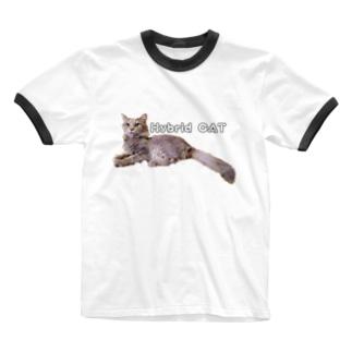 雑種Hybrid CAT Ringer T-shirts