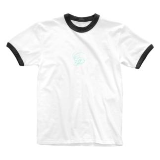 点線 Ringer T-shirts