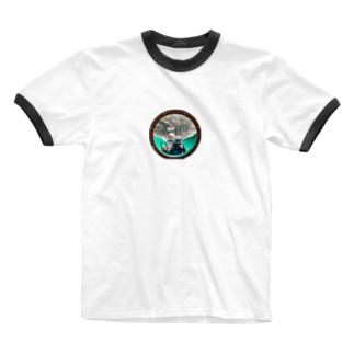 仲良し Ringer T-shirts
