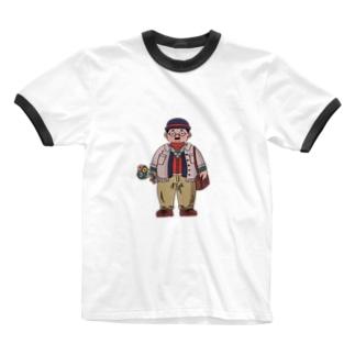 厚着おじさん Ringer T-shirts