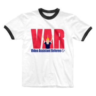 VARさん Ringer T-shirts