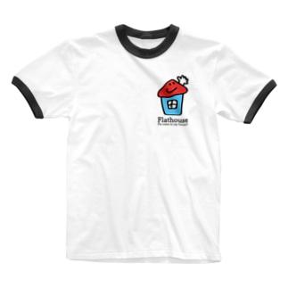Flathouse/フラットハウスくん Ringer T-shirts