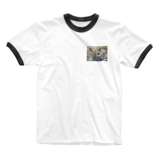 SUN SHOWER Ringer T-shirts