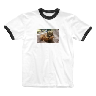 アカガエル君 Ringer T-shirts