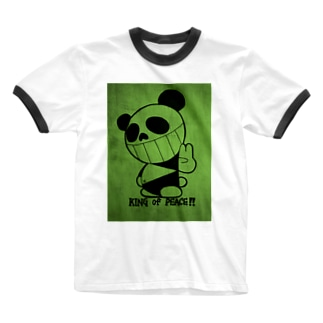 King Of Peace パンダ Ringer T-shirts