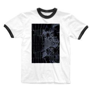 アポロロケットブースター Ringer T-shirts