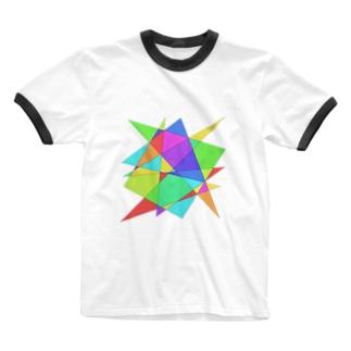 スタッツ・ステンドグラス Ringer T-shirts