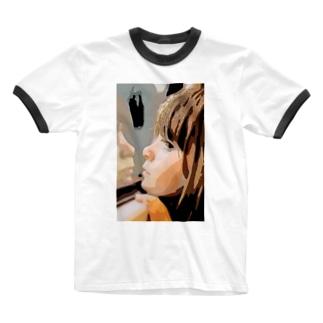 女の子 Ringer T-shirts