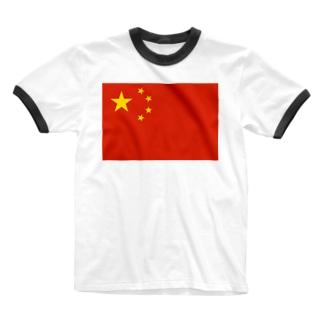 ラブ支那 Ringer T-shirts