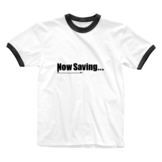 Now Saving_white Ringer T-shirts