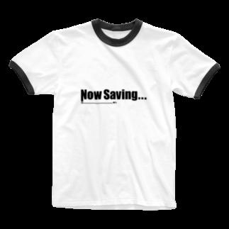 Studio OriginのNow Saving_white Ringer T-shirts