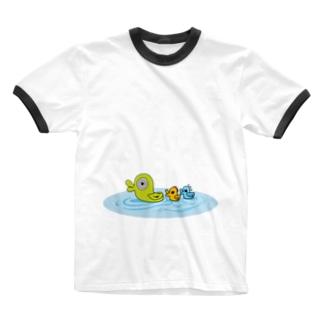 CUBIC ITEMの多分これは鳥。 Ringer T-shirts