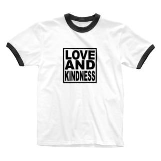 LOVE AND KINDNESS Ringer T-shirts