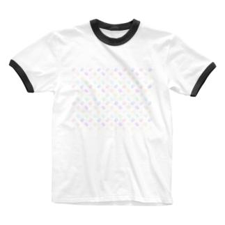カラフルにゃーん Ringer T-shirts